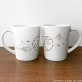 You Are My World™ Couple Coffee Mug Set