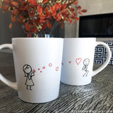 BoldLoft From My Heart to Yours Too™ His and Hers Couple Coffee Mug Set