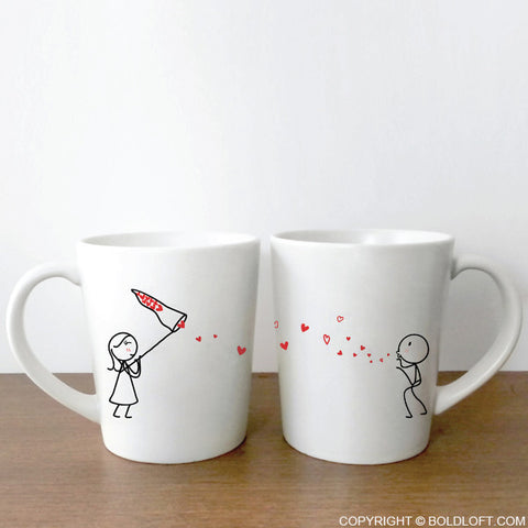 Catch My Love Too Couple Coffee Mug Set