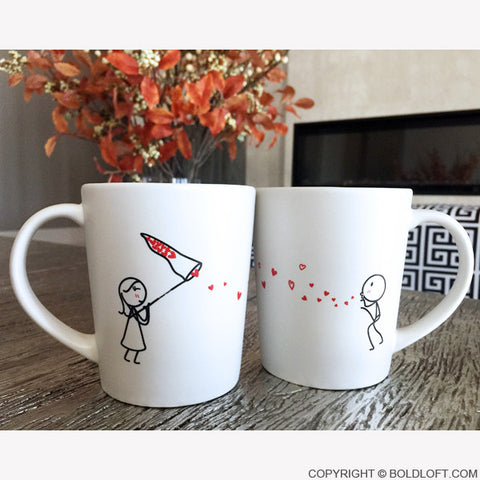 Catch My Love Too™ Couple Coffee Mugs