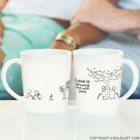 Grow Old with You™ Couple Mug Set