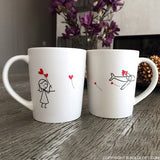 No Matter The Distance™ Couple Coffee Mug Set