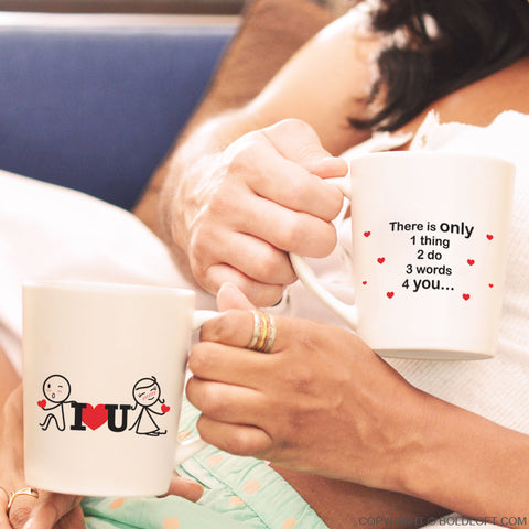 3 Words for You™ Couple Mugs