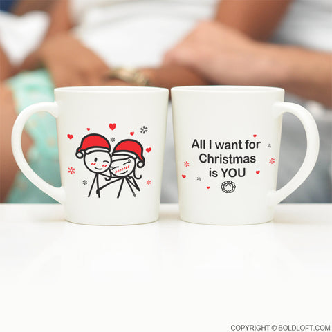 Merry Christmas™ Couple Coffee Mug Set