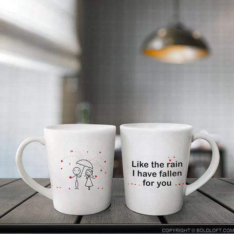 BoldLoft Couples Coffee Mugs - I Have Fallen for You