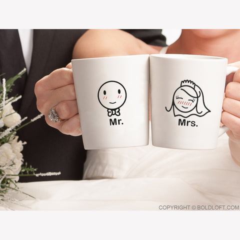mr mrs couples coffee mugs gifts for bride groom his hers cups