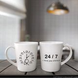 boldloft,couple coffee mugs,his and hers mugs,i love you always,24 7,twenty four seven