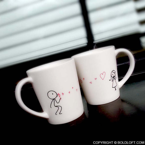 Valentines Gifts for Her | From My Heart to Yours His and Hers Coffee Mugs