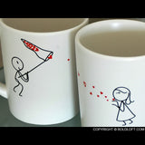 BoldLoft Catch My Love His and Hers Coffee Mugs