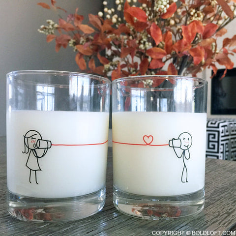 Say I Love You Too™ Couple Drinking Glass Set