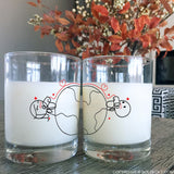 Love Has No Distance™ Couple Drinking Glasses