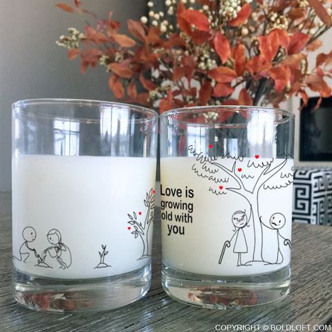 Grow Old with You™ Couple Drinking Glasses
