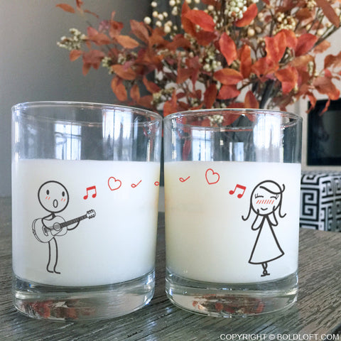 Love Me Tender™ Couple Drinking Glasses