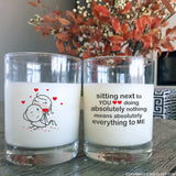 You Mean Everything to Me™ Couple Drinking Glasses