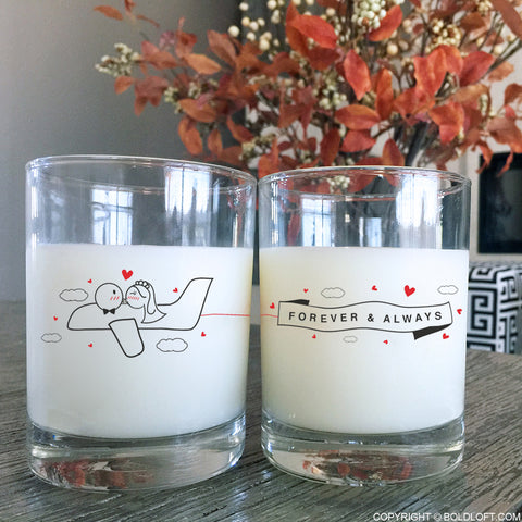 Forever & Always™ Wedding Drinking Glasses