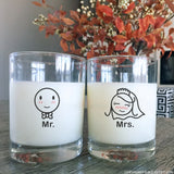 A Perfect Match™ Mr & Mrs Wedding Drinking Glasses