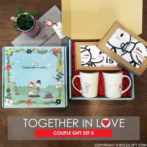 Together in Love™ Valentine Couple Gift Set II