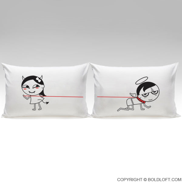 Adult Gag Gifts- I'm Devilious Delicious Couple Pillowcases