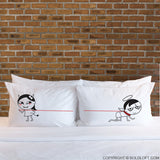 Funny Novelty Gifts- I'm Devilious Delicious His and Hers Pillowcases