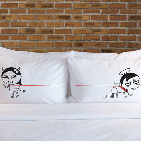 Funny Gag Gifts for Him- I'm Devilious Delicious Matching Couple Pillowcase Set