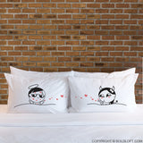 Adult Gag Gifts- You're So Kissable Matching Couple Pillowcase Set