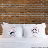 Adult Gag Gifts for Couples- The Sexiest Number Matching Couple Pillowcase Set