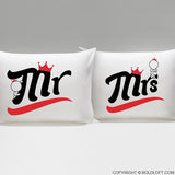 BoldLoft A Perfect Match Mr & Mrs Couple Pillowcases
