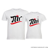 BoldLoft A Perfect Match Mr & Mrs Couple Shirts