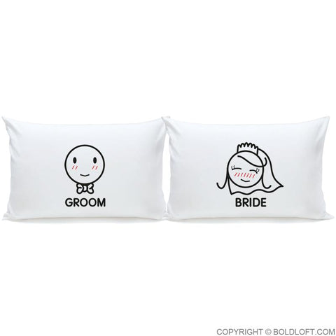 A Perfect Match™ Bride & Groom Pillowcases
