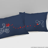 All My Love For You™ Pillowcases (Dark Blue)