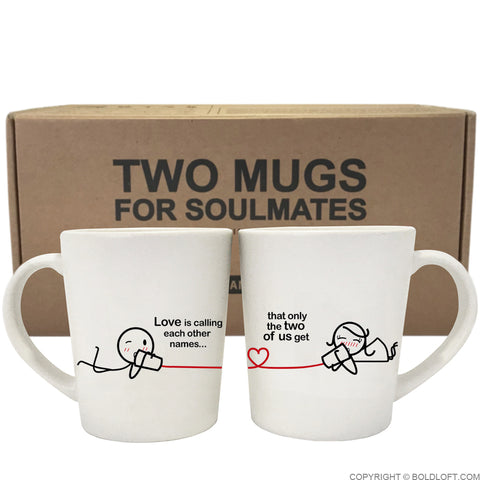 unique his and her coffee mugs between you me couple coffee mugs