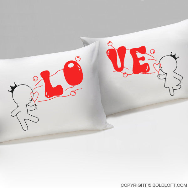 Bubbling With Love For You™ His & Hers Pillowcases