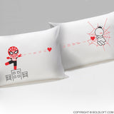 Valentines Day Gifts for Him Captured by Your Love His and Hers Pillowcases BoldLoft