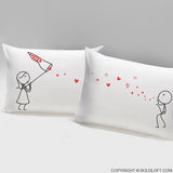BoldLoft Catch My Love Too His and Hers Couple Pillowcases