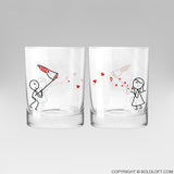 Catch My Love™ Drinking Glass Set