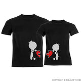 Complete My Heart™ Couple T-Shirts Black