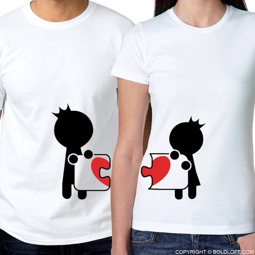 Complete My Heart™ His & Hers Matching Couple Shirt Set