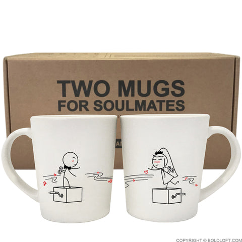 Wedding Gifts-BoldLoft Endless Love Bride & Groom Couple Coffee Mugs