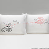Wedding Gifts-BoldLoft Forever & Ever Bride & Groom Couple Pillowcases
