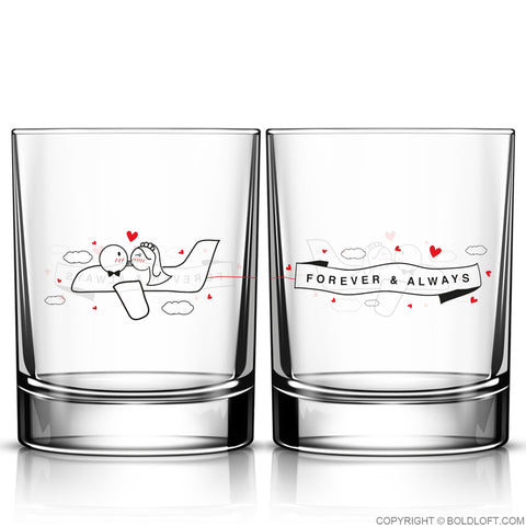 Forever & Always™ Wedding Drinking Glass Set