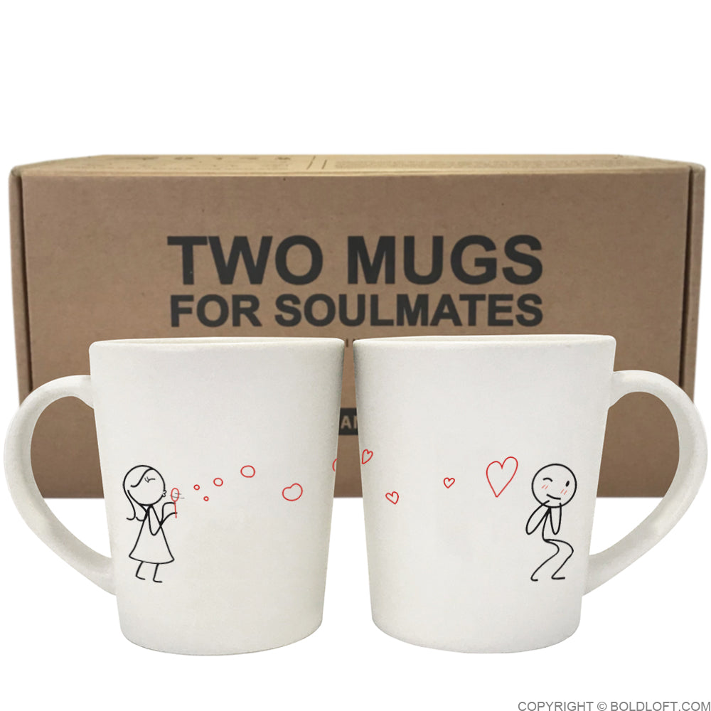 BoldLoft From My Heart to Yours Too™ His and Hers Couple Coffee Mugs