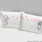 Valentines Day Gifts for Her-From My Heart to Yours Couple Pillowcases