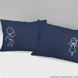 From My Heart to Yours™ Pillowcases (Dark Blue)