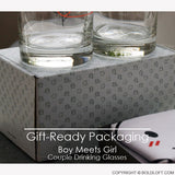 BoldLoft His and Hers Drinking Glasses Gift Ready Packaging