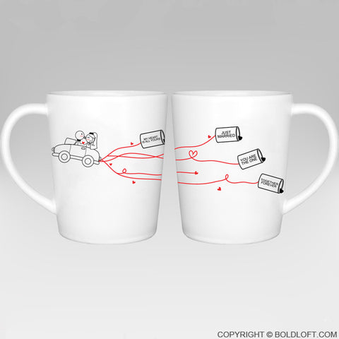 Wedding Gifts-Happily Ever After™ Bride & Groom Coffee Mugs