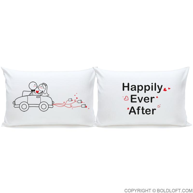 Wedding Gifts-Happily Ever After™ Bride & Groom Pillowcases