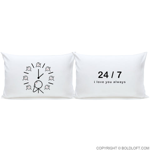 I Love You Always™ Couple Pillowcase Set