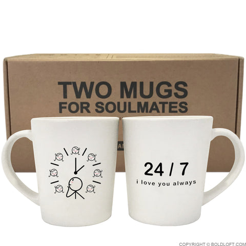 I Love You Always™ Couple Mug Set