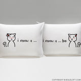 boldloft i meow you cat pillowcases for couples cat themed gift for cat lovers