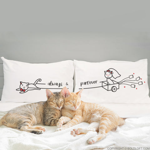 Always & Purrever™ Cat Couple Pillowcases